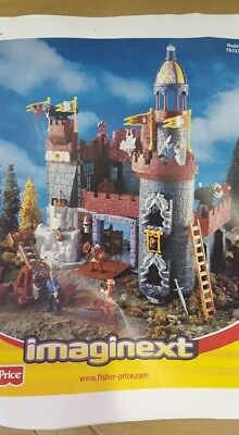 Two Full sets of Imaginext Battle Castle plue Dungeon Set and Royal Carriage