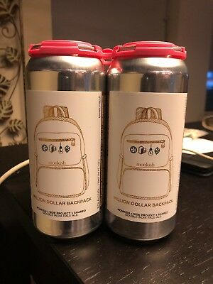 Monkish 4 cans of DIPA MILLION DOLLAR BACKPACK. Brand new!!