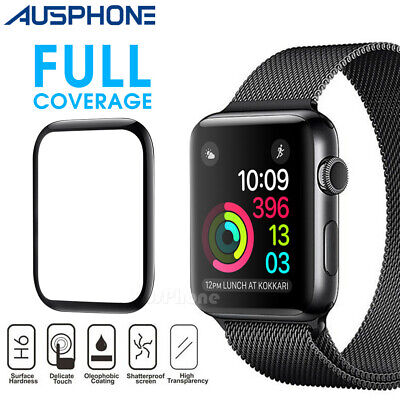 Apple Watch 5 4 3 2 1 3D Tempered Glass Full  Screen Protector 38/42/40/44mm