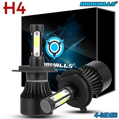 4 sides H4 HB2 9003 1700W 255000LM LED Headlight Kit Hi/Lo Beam Power Bulb 6000K