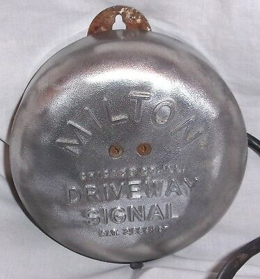 Estate Orig Vintage Milton Driveway Gas Service Station Signal Bell tested WORKS