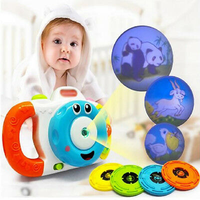 Cute Simulation Camera Projection Sounding Educational Baby Kids Study Toy Gift