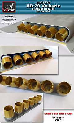 Armory 1/72 North American XB-70 Valkyrie Exhaust Nozzles for Italeri kits