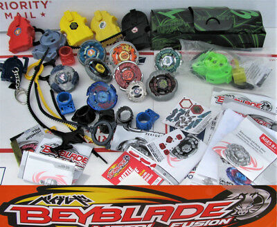 Big BEYBLADE LOT Metal Fury Masters Fusion Spinners Launchers Hasbro