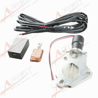 """2"""" 2.5"""" 3"""" Electric Exhaust Catback Downpipe Cutout Valve Motor+Remote Control"""