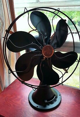 Vintage / Antique Emerson Electric 6 blade table fan Type 71666