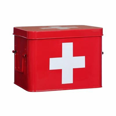 Medicine/First Aid Box, Ample Storage Space, Easily Identifiable Lid With Handle