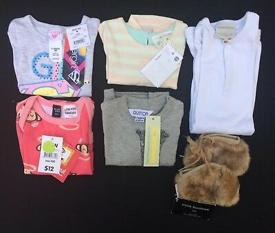 Baby Girls Bulk Lot - Size 000 - NWT - Mink Booties, Marquise, Quince, Pumpkin P