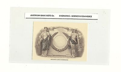 American Bank Note Co Engraving Science & Commerce