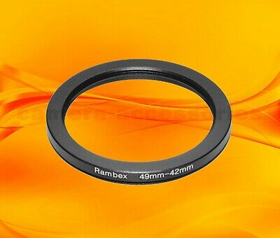 49mm to 42mm 49-42 Stepping Step Down Filter Ring Adapter 49-42mm 49mm-42mm M-F