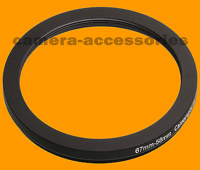 67mm to 58mm 67-58 Stepping Step Down Filter Ring Adapter 67-58mm 67mm-58mm