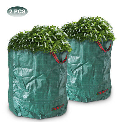 2PCS 270L Large Reusable Garden Waste Bag Strong Rubbish Sack Waterproof Heavy