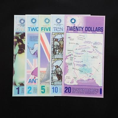 Arctic 1/2/5/10/20 Dollar Commemorative notes Collection 5 Models