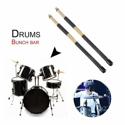 Pro Hot Rods Drum Sticks 19 Dowels Professional Bamboo Drumsticks Brushes QK