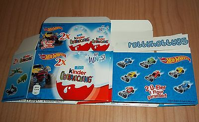 2-Pack Vuoto Hot Wheels Kinder Sorpresa Germania Test 2014
