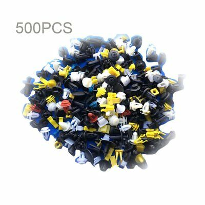 500pcs QKto Car Plastic Rivet Fasteners Push Pin Bumper Fender Panel Clips Kit A