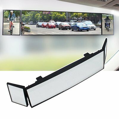 Car QKto Wide Angle Rearview Three Folds Curved Surface Blind Spot Convex Mirror