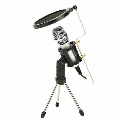 Condenser Studio Vocal Handheld Microphone With Cable KTV Mobile Phone Party QK