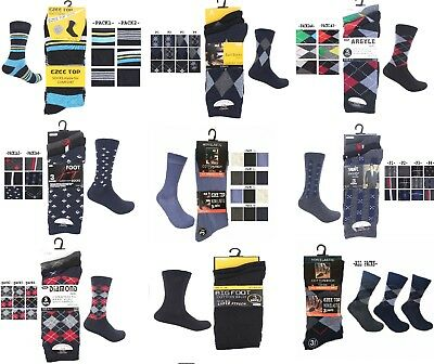 6 Pairs New Mens Striped Coloured Designer Suit Fashion Work Adults Socks 6-11