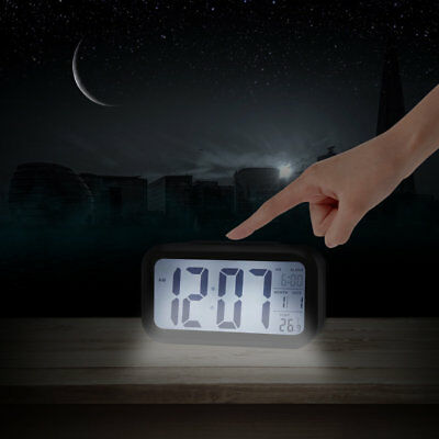 K#_Led Digital Electronic Alarm Clock Backlight Time With Calendar+Thermometer
