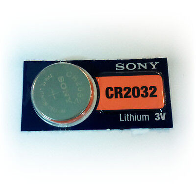 1 x Sony CR2032 3V Lithium Coin Battery for Watch, PC BIOS, Other Electronics