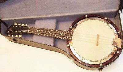 Lovely Restored Banjo Mandolin in good playing order & condition beautiful tone