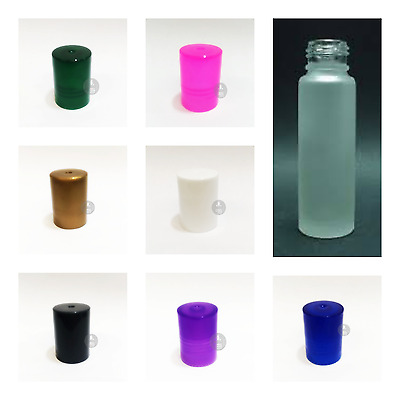 1X10ML Empty Glas Frosted ROLL ON BOTTLES Liquid Essential Perfume OIL REFILABLE