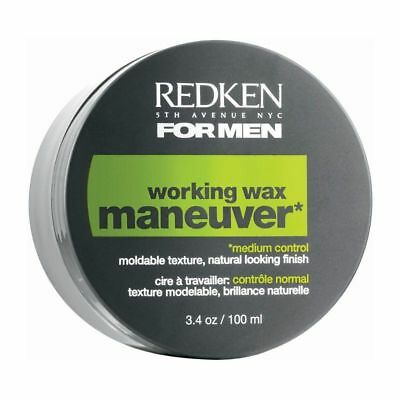 Redken Maneuver Working Wax for men, natural look finish, New 3.4 oz