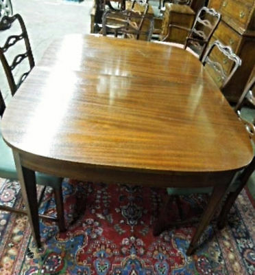 Mid Century Mahogany Federal Style 2 Leaves Dining Room Table Side End Vintage