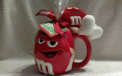 M&M's Red Oversized Ceramic Mug With Plush Character
