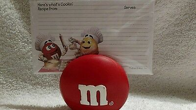 M&M's Here's What's Cookin Recipe Cards with Holder