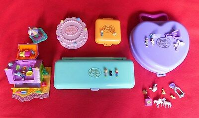 Polly Pocket Bundle With Dolls, Animals & Misc All Need Completion As Not 100%