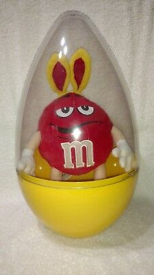 M&M's Yellow Easter Egg With Red Bunny Character
