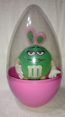 M&M's Pink Easter Egg With Green Bunny Character