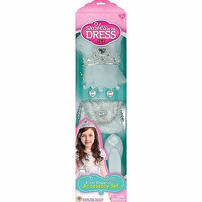 Say Yes To The Dress Girls Dress Up Play Bridal Accessory Set, Silver Elegance