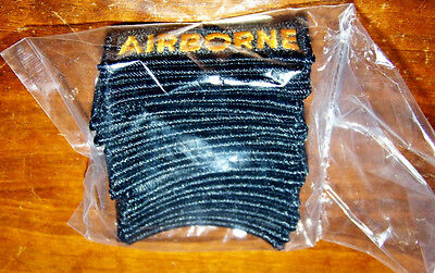 Original Us Army Patch Lot Of 20 Color Airborne Tabs - Sealed In Pack