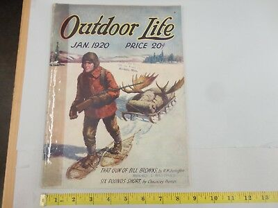 Outdoor Life January 1920 Vintage Issue
