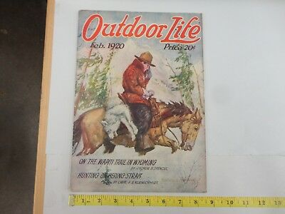 Outdoor Life February 1920 Vintage Issue