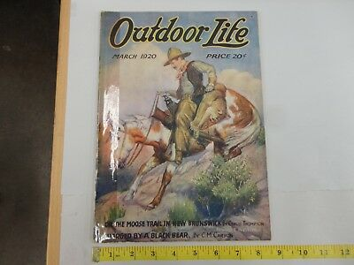 Outdoor Life March 1920 Vintage Issue