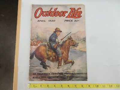 Outdoor Life April 1920 Vintage Issue