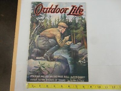 Outdoor Life June 1920 Vintage Issue