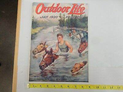 Outdoor Life July 1920 Vintage Issue