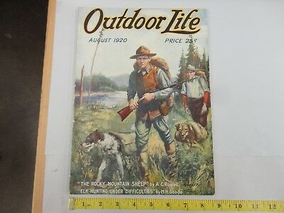 Outdoor Life August 1920 Vintage Issue