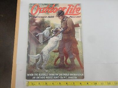 Outdoor Life September 1920 Vintage Issue