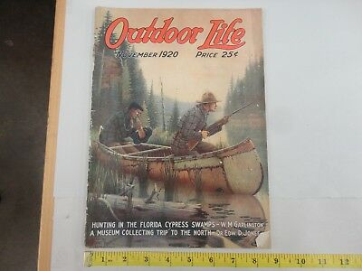 Outdoor Life November 1920 Vintage Issue