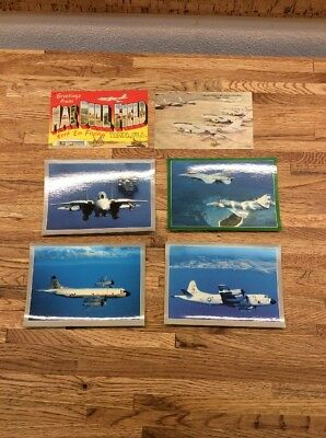 Lot Of 6 Vintage Air Force Base / Navy Airplane Postcards All Unposted New T-3