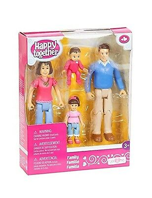 You & Me Happy Together Family Action Figure Set (Dad, Mom, Daughter, and Bab...