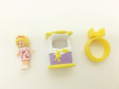 Vintage Polly Pocket 1989 Polly's Bedtime Ring - Cute!