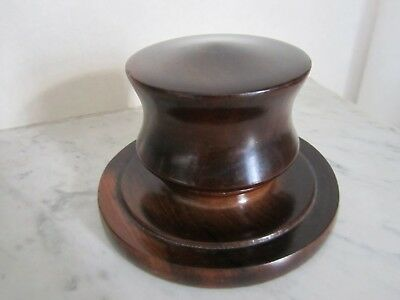 Antique Treen Mahogany Box _ Early 19th Century