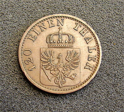 German States--Prussia---1876-C-----3 Pfenning Coin---Nice Coin